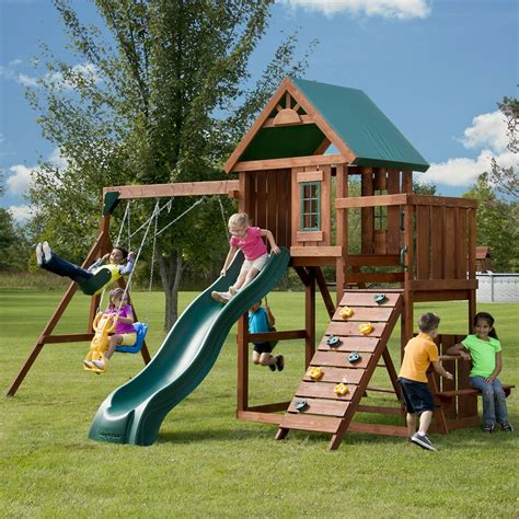inexpensive wooden swing sets playground playsets canada discount canadahardwaredepot com