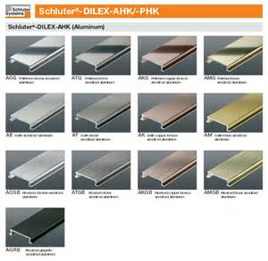 schluter colors schluter dilex ahk anodized aluminum cove shaped corner