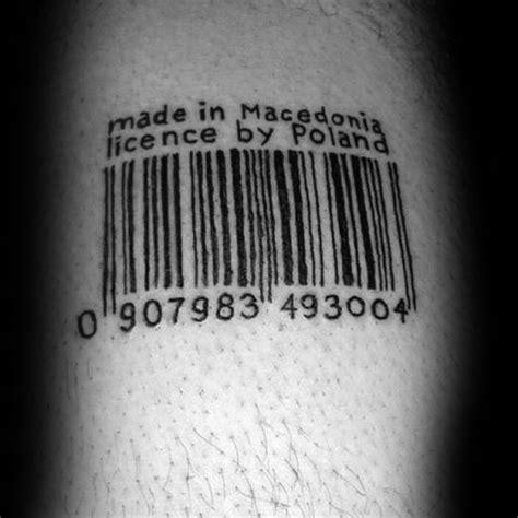 barcode tattoo theme 30 barcode tattoo designs for men id 233 es d encre de ligne