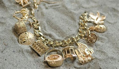 we this charleston charms charm bracelet from gold
