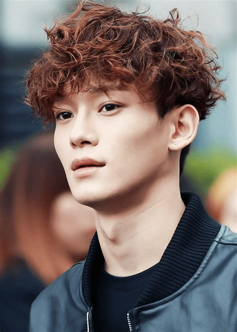 pop star with red curly hair ramen hairstyles kpop korean hair and style
