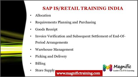 sap retail tutorial online sap is retail training and corporate training