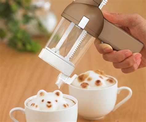 create your own latte coffee foam sculptures with the