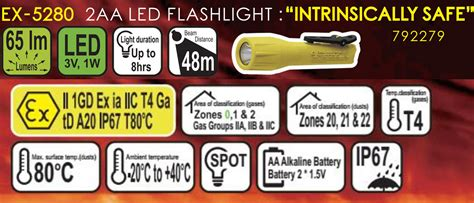 Fluorescent Led 5280 by Ex 5280 Explosion Proof 2aa Alakaline Battery Foshan