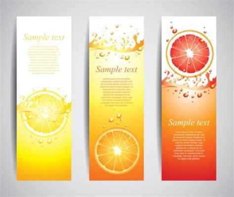 design banner juice orange juice drinks banner vector graphics vector banner