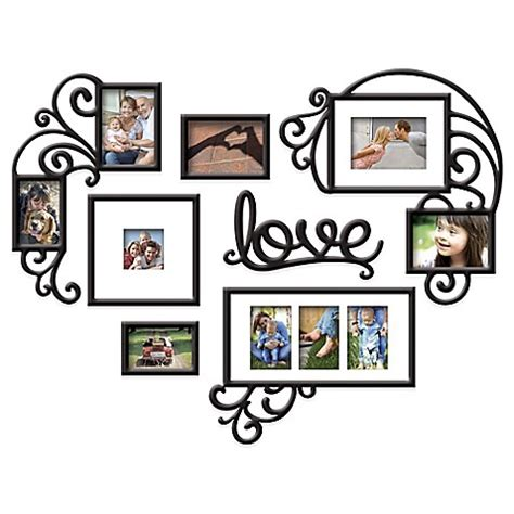 photo frame collage set wallverbs 7 quot quot photo frame set in satin black