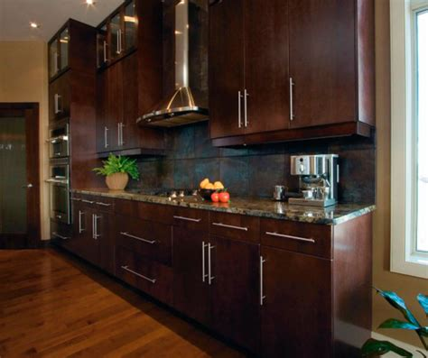 How To Finish Kitchen Cabinets by Modern Kitchen Cabinets In Espresso Finish Kitchen Craft