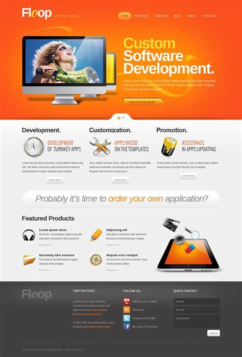 software layout wordpress software company wordpress theme 40435