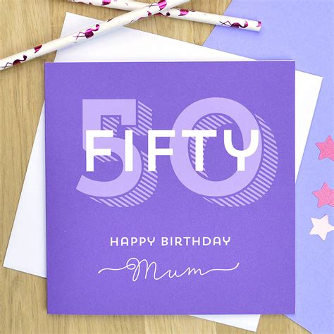 Personalised 50th Birthday Cards For