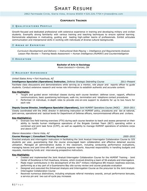 Humint Collector Sle Resume by Business Operations Analyst Sle Resume Rasmussen Optimal Resume