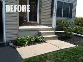 curb appeal with a new front walkway tomlinson bomberger