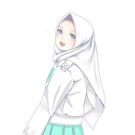 gambar anime hijab keren