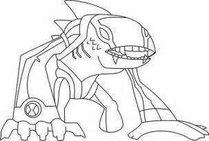 Articguana from Ben 10 Omniverse Coloring Page: Articguana from Ben 10