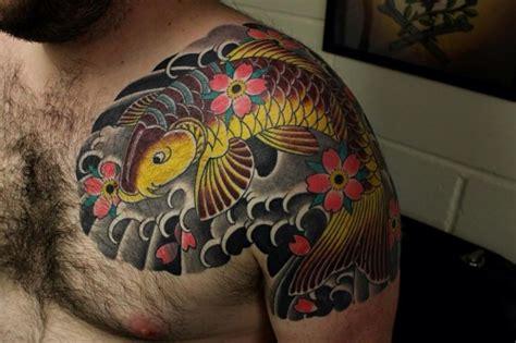 koi fish tattoo on shoulder blade koi fish tattoo design 40 coy fish tattoo ideas 2018