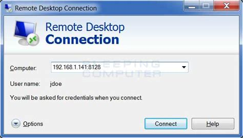 remote desktop client how to change the terminal services or remote desktop