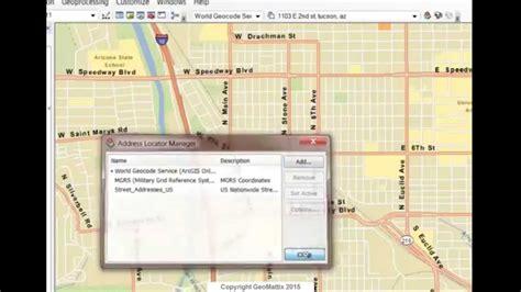 tutorial geocoding arcgis geocoding in arcgis for desktop youtube