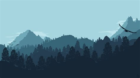 minimalist mountains landscape 1 forest mountain by ncoll36 on deviantart