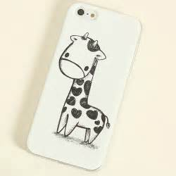 Style cute giraffe valentine lover hard back case cover for iphone