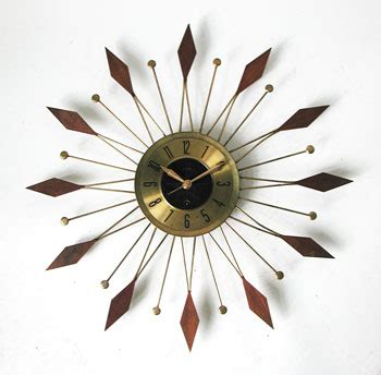 60s clock retro 60s starburst wall clock