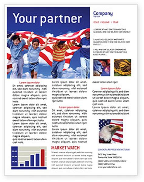 usa themes microsoft children of the usa newsletter template for microsoft word