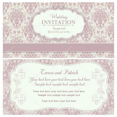 Hochzeitseinladung Rosa by Barocke Hochzeitseinladung Rosa Und Beige Stockvektor