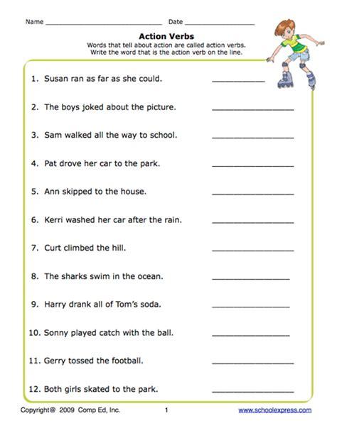 Verb Worksheets by School Express Verbs Worksheet Education World
