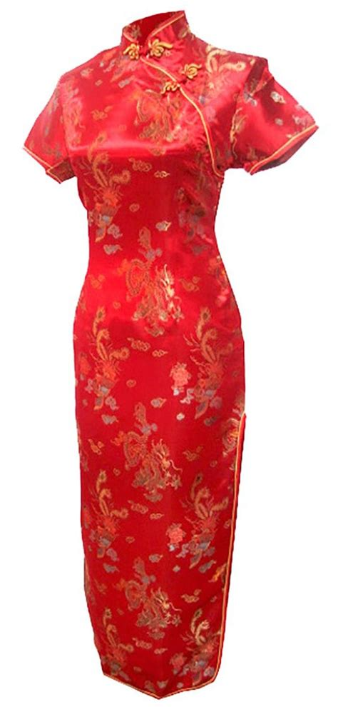pattern chinese dress free shipping mandarin collar qipao chinese dress phoenix