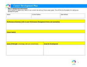 template development career development plan template free besttemplates123