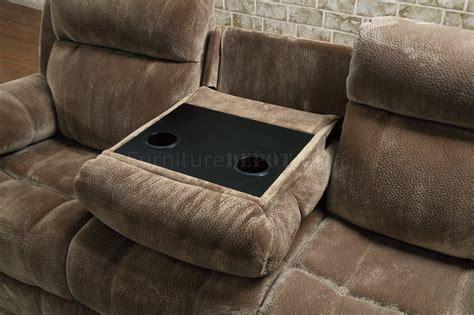 loveseat fabric myleene motion sofa 603031 in mocha fabric by coaster w