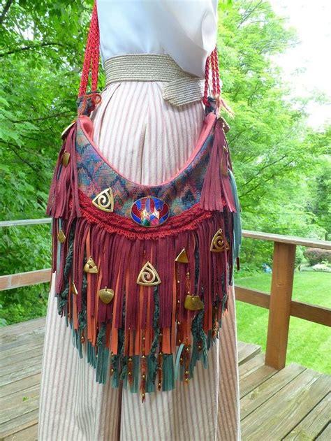 Handmade Hippie Bags - bags handbag trends handmade suede leather fringe