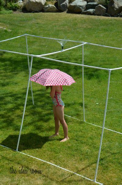 backyard sprinkler system make a pvc sprinkler for