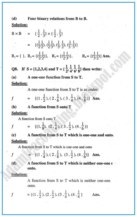 Mba Business Maths Notes by Adamjee Coaching Sets Question Answers Mathematics