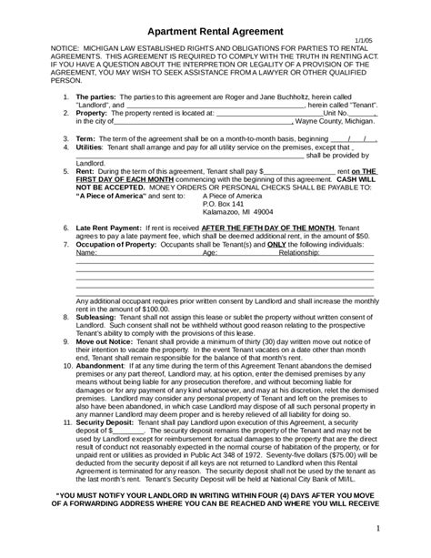 free lease agreement 2018 rental agreement fillable printable pdf forms