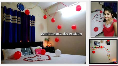 Room decoration  FIRST WEDDING ANNIVERSARY   DECORATION IN
