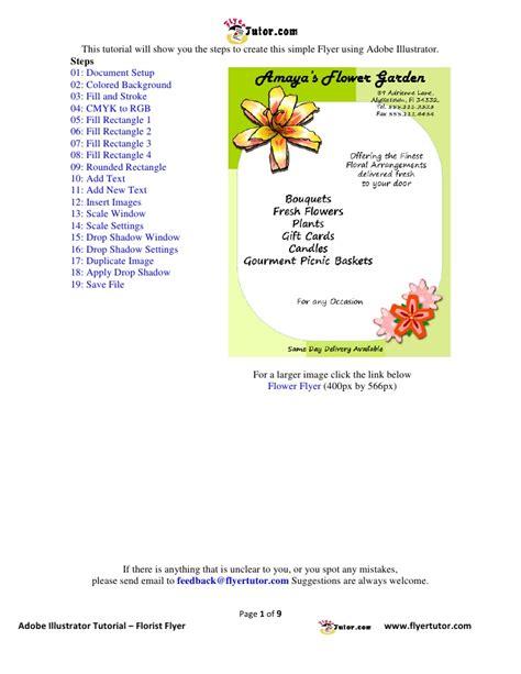 flyer design illustrator tutorial illustrator tutorials florist flyer
