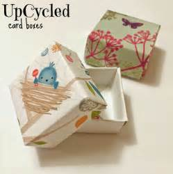 upcycled card boxes easy upcycled crafts for paper boxes tooth box and box
