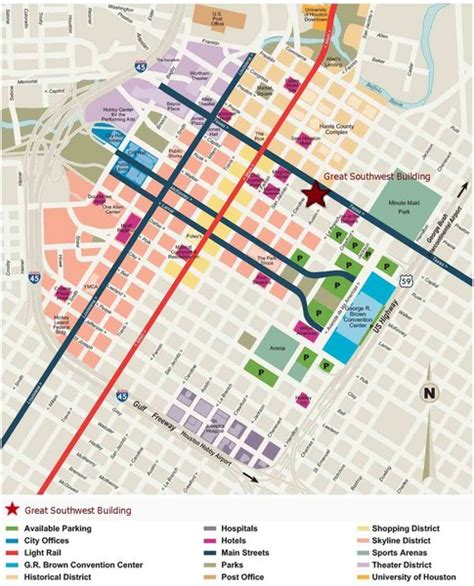houston city map pdf downtown houston map of streets