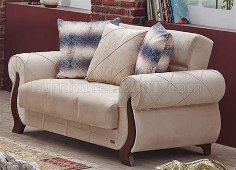 ontario sofa bed  beige fabric  empire woptions