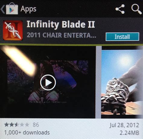 infinity blade for android infinity blade 2 for android hits play store polygon