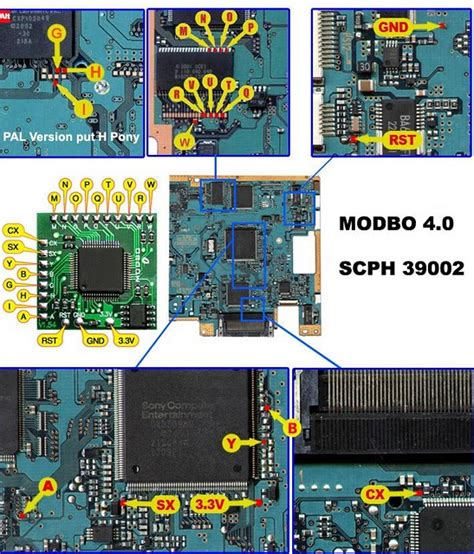 Harga Modchip Matrix Untuk Ps2 playstation diagram ic modbo 4 0 760