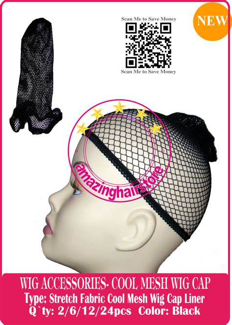 Most Comfortable Wig Cap by 6pcs Black Stretch Fabric Mesh Wig Cap Liner For Hair Lace