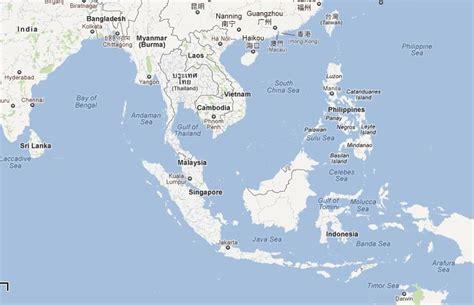 asia sea map asian sea map free