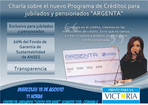 la tarjeta argenta de anses para jubilados tarjeta argenta programa de creditos para jubilados