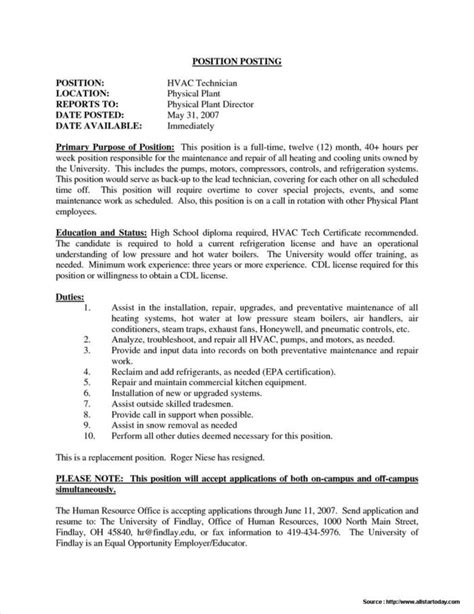 resume format for ac mechanic air conditioning service invoice template templates