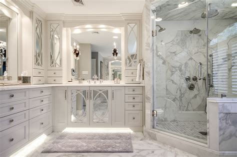 Marble Master Bathroom Calacatta Marble Master Bath Transitional Bathroom