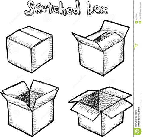 when i doodle i draw boxes vector open box stock vector image 40493330