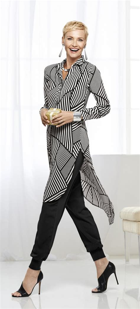 black and white shirt to wear with pants long lightweight and sheer this black and white shirt