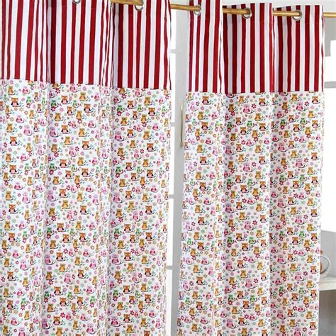 red cotton curtains owls ready made eyelet curtain orange red cotton kids