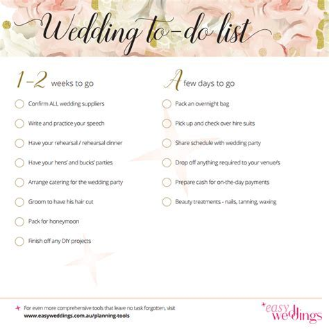 Get a free printable wedding planning checklist here