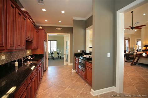 kitchen wall colors with cherry cabinets pictures of kitchens traditional medium wood kitchens